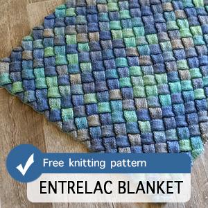 Entrelac Blanket Knitting Pattern