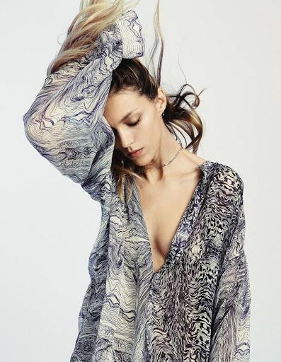Anja Rubik sexy photo shoot Grazia France Magazine