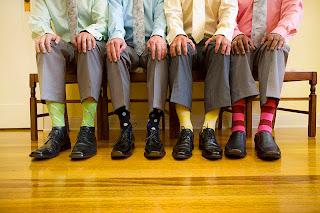 matching socks shirts groomsmen