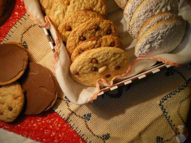 Galletas de crema de cacahuete con chocolate