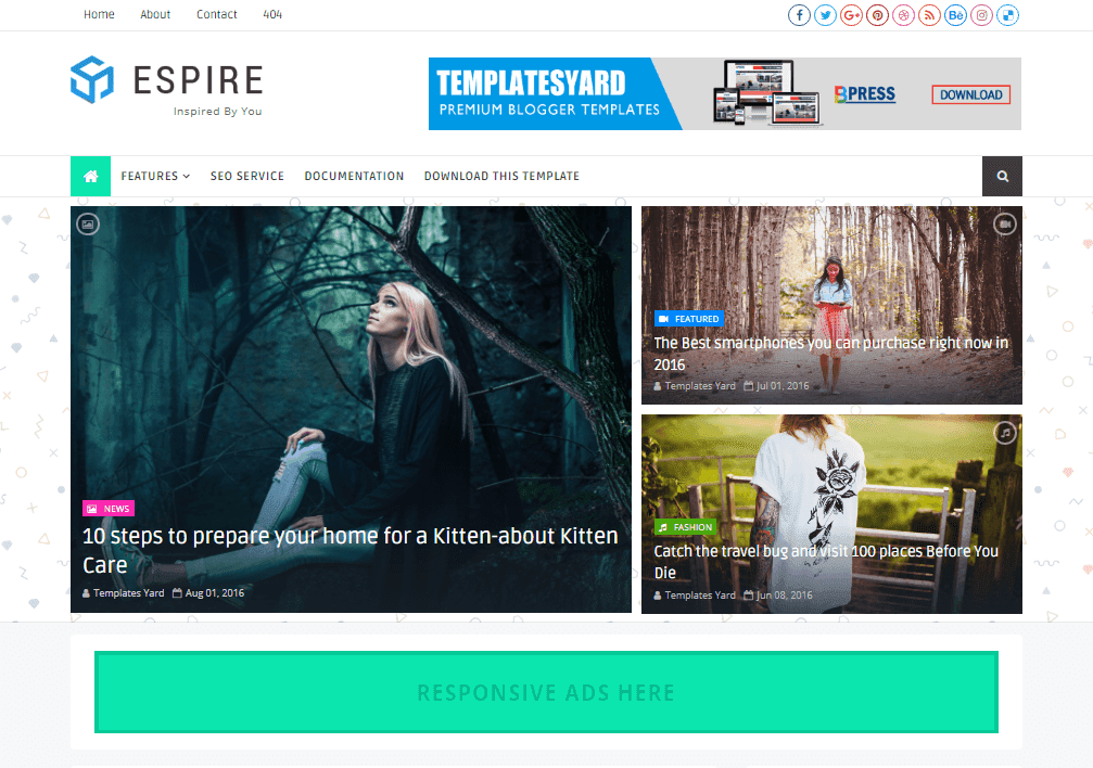 Espire stylish blogger template theme xpose themexpose espire stylish blogger template is a multi purpose clean creative fully responsive and powerful blogspot theme our theme has included multiple featured maxwellsz