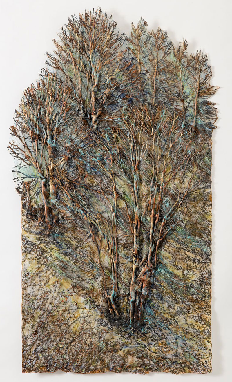 Trees Of The Oregon Garden: Textile Trees By Lesley Richmond