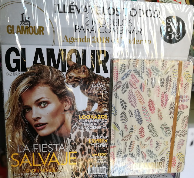Revista glamour pocket con agenda