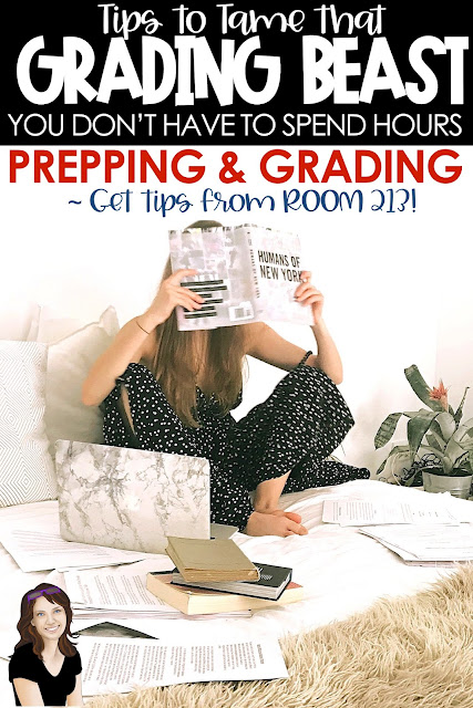 Taming the grading beast: tips for middle and high school English teachers who want to cut down on the time spent on grading.