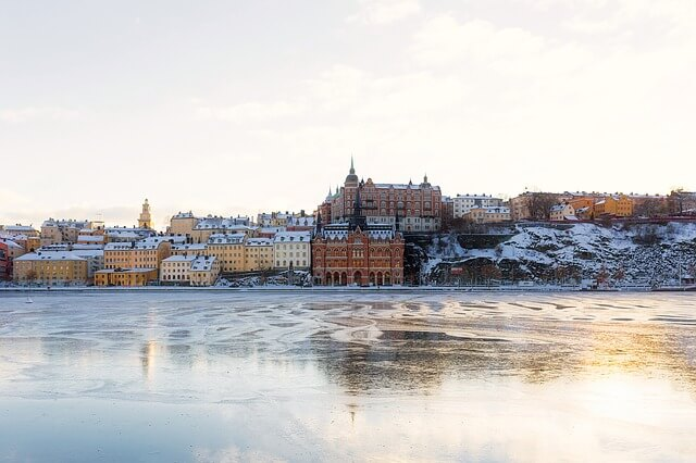 Stockholm İsveç Kış Ayları