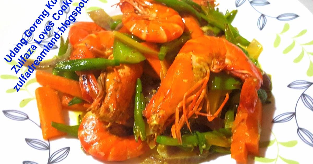 ZULFAZA LOVES COOKING: Udang Goreng Kunyit