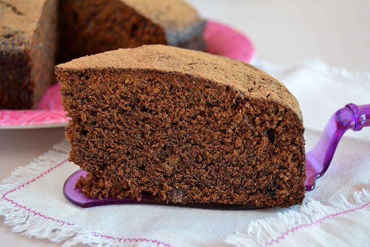 Torta de nuez y chocolate