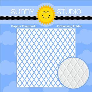Sunny Studio Stamps: 6x6 Dapper Diamonds Embossing Folder