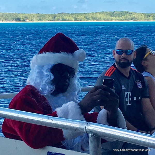 Black Santa on Holland America Line's Nieuw Amsterdam ship tender