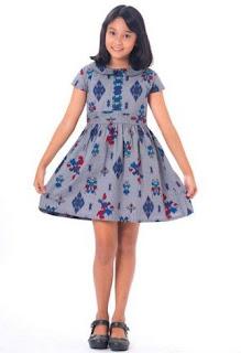 Model baju batik anak perempuan usia 10 tahun