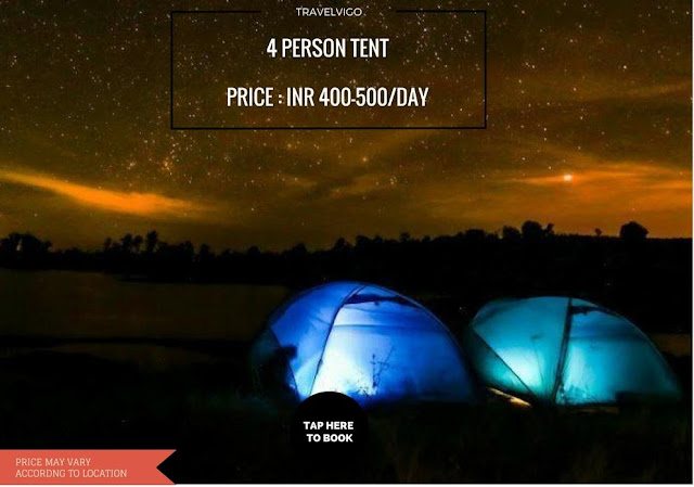 4 person tent for rent in Mumbai