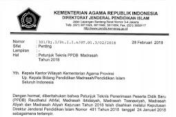 Unduh Juknis PPDB Madrasah Tahun 2018 Jenjang MI, MTs, MA, MAK Terbaru