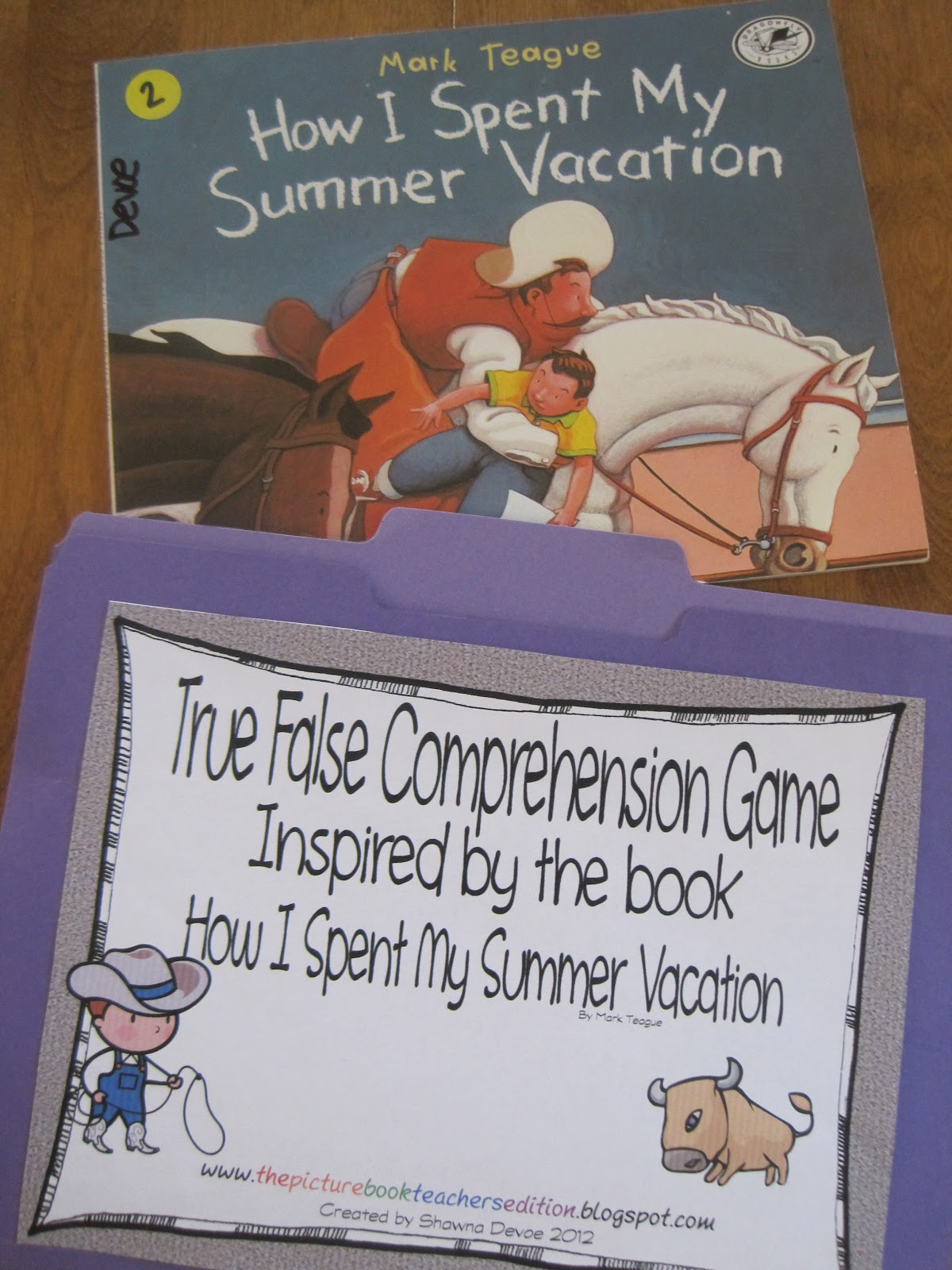 The Picture Book Teacher S Edition How I Spent My Summer