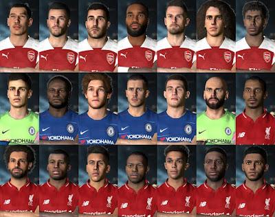 PES 2017 Facepack Premier League 2018/2019