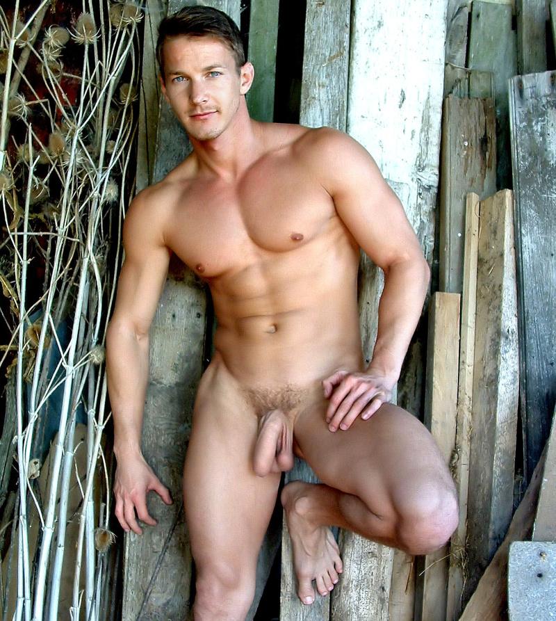 naked men in barns