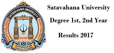 manabadi su degree results 2017 1st, 2nd year