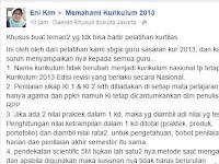 Point Penting Perubahan Kurikulum 2013 menjadi Kurikulum Nasional