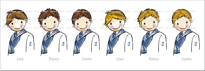 Modelos pelo niños recordatorios Comunión personalizados originales
