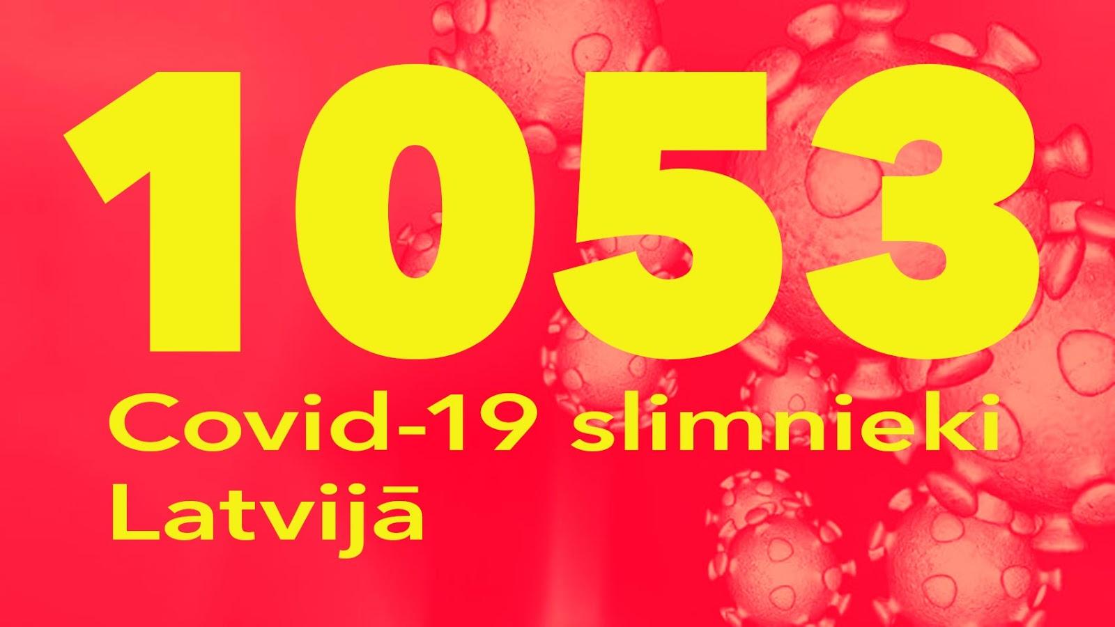 Koronavīrusa saslimušo skaits Latvijā 26.05.2020.