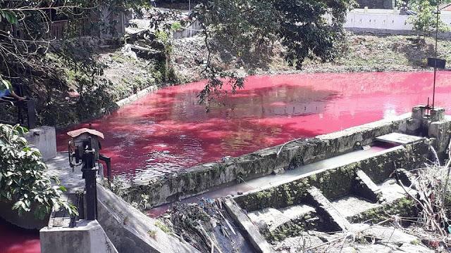 Air Sunga Bah Bolon Berwarna Merah, lokasi Pabrik Es jalan Pematangsiantar