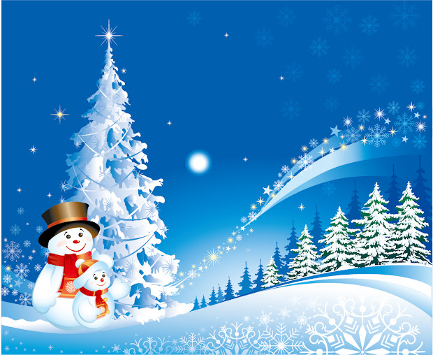 Free Vector Cartoon Christmas Background