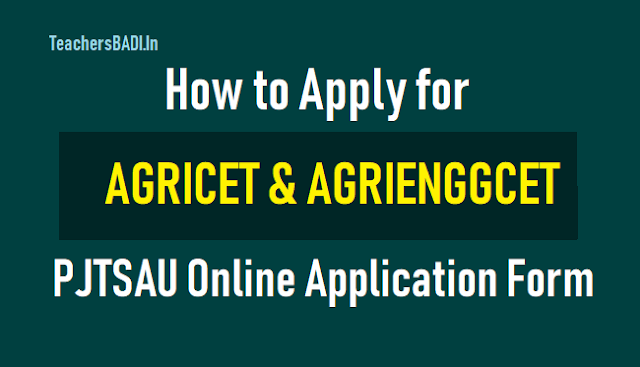 how to apply for agricet agrienggcet 2018,last date to apply,agricet agrienggcet 2018 online application form,online application fee,pjtsau agriculture bsc btech degree admissions