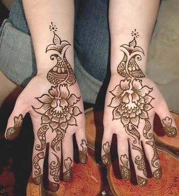 Arabic Rose Flowe Mehndi Designs For Hands Frames Collection