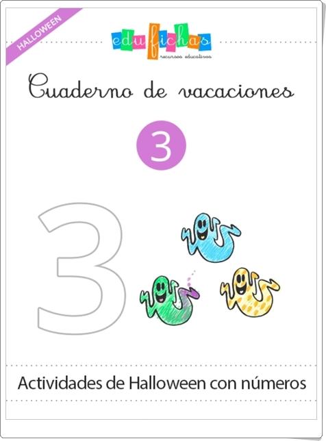 """""""Cuadernillo de Halloween 3 para Educación Infantil"""" (Números del 1 al 10)"""