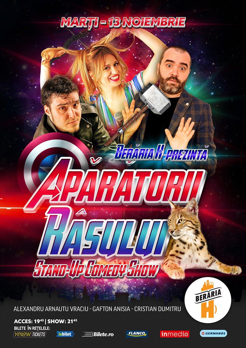Stand-Up Comedy Bucuresti Marti 13 Noiembrie la Beraria H