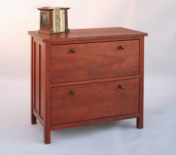 cherry wood lateral file cabinet - Craftsman style