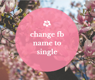 change fb name to single