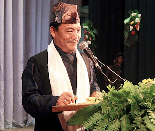 Bimal Gurung at Morcha foundation day programme in Darjeeling