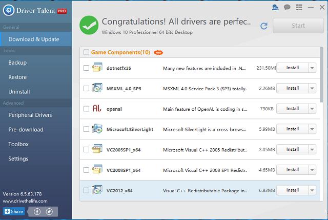 تحميل برنامج تحديث تعريفات الكمبيوتر Driver Talent آخر إصدار