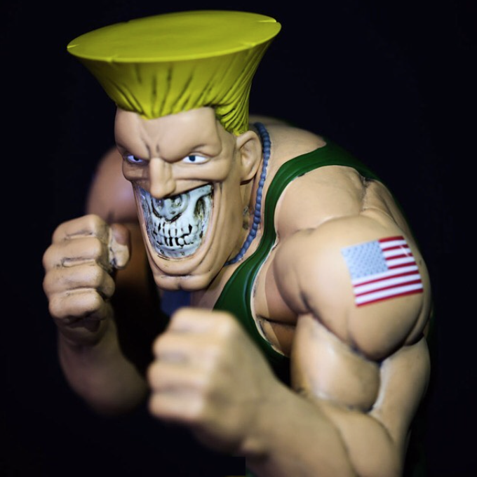 Guile Grin Street Fighter X Ron English For Aug 31 Online Release
