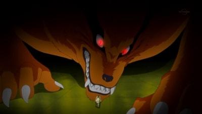 Kurama enojado frente a Shin