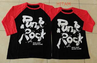 Jual Online Kimono 3/4 Punk Rock Couple Murah Jakarta Bahan Combed Terbaru.