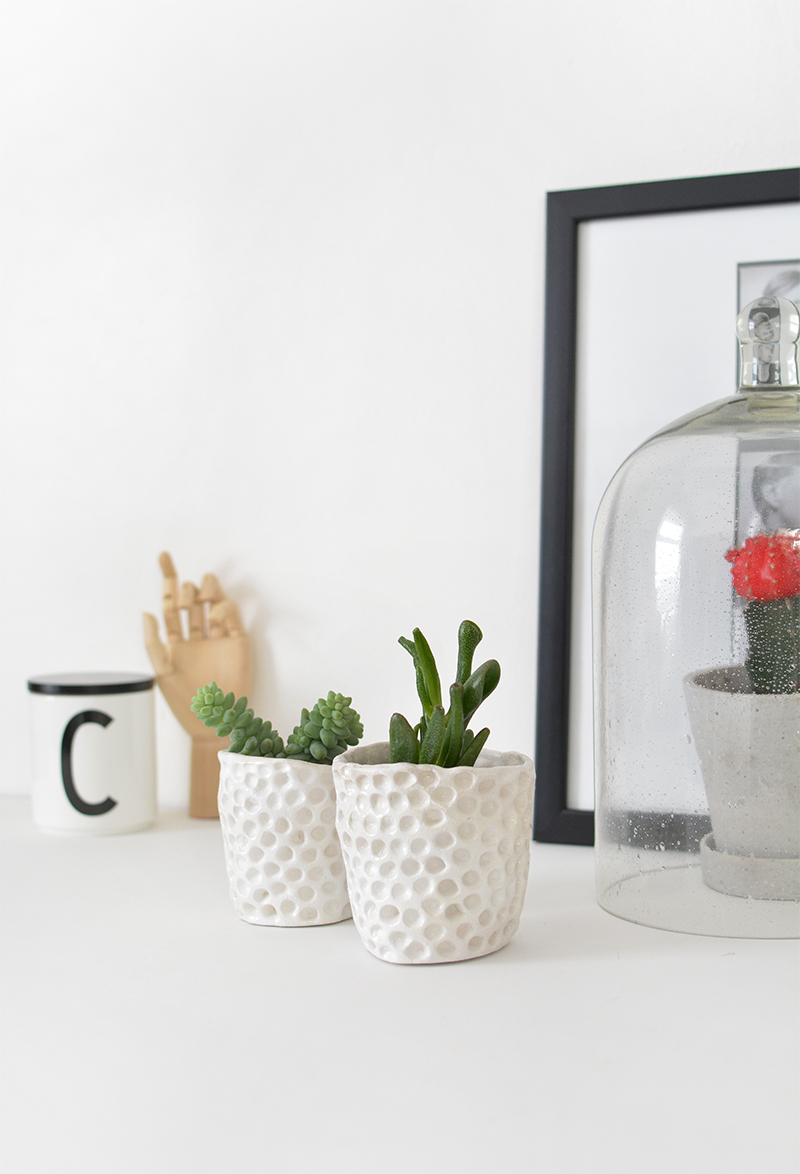 revistarecrearte com clay planters planter affiti