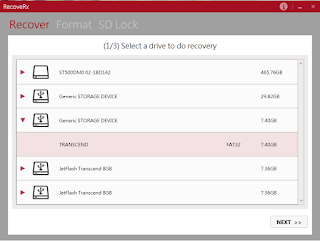 Transcend MicroSD memory card file recovery