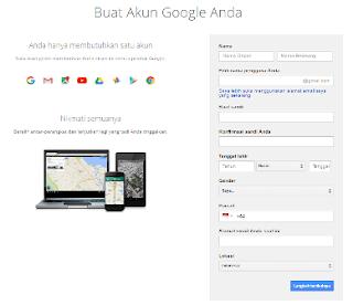 Daftar Baru Akun Google