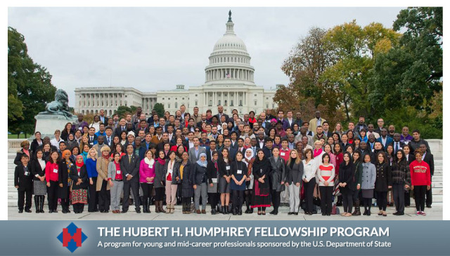 Hubert H. Humphrey Fellowship Program for Developing Countries in USA, 2018-2019
