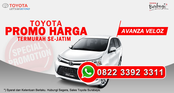 Promo Harga Toyota Avanza Veloz Surabaya