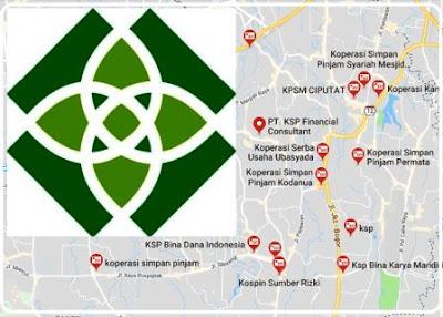 list alamat KSP syariah kota Tangsel seluruh Tangsel, lengkap
