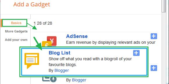 구글블로그 사용법: 블로그 리스트 가젯 (Blog List Gadget) 추가 및 설정하고 꾸미는 방법