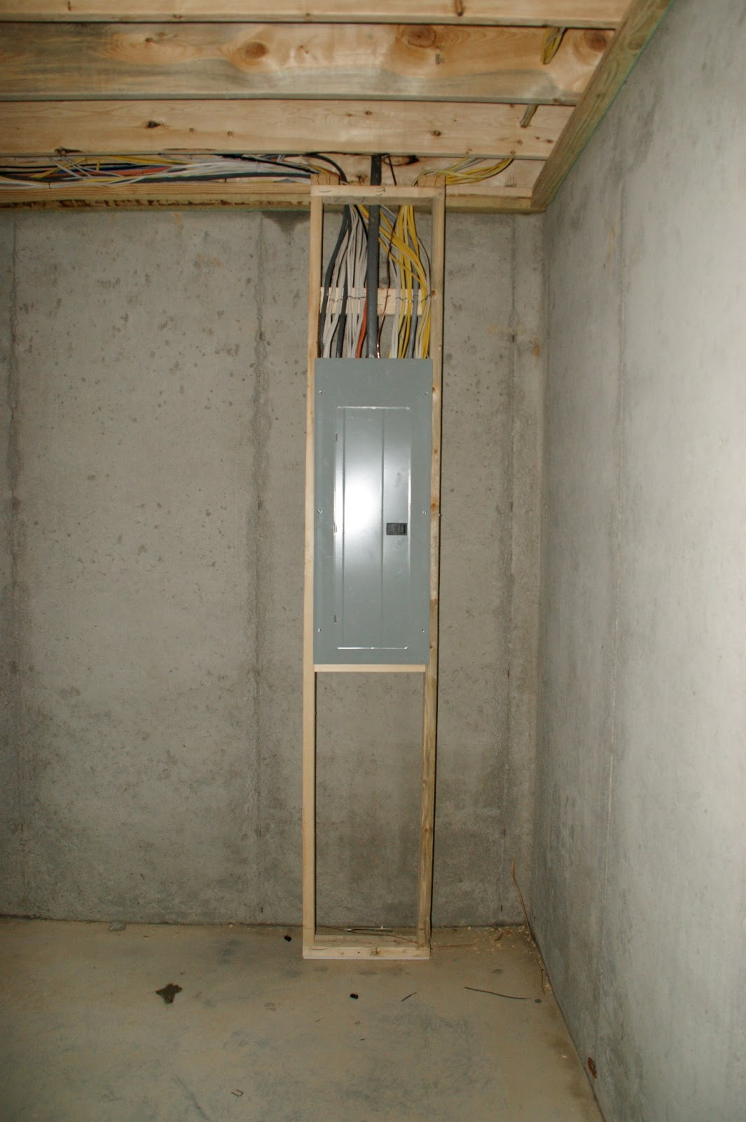 Framing Around Electrical Panel To Main Diy Chatroom Home Improvement Forum Building Our Heavenly Highgrove Day 39 40 2