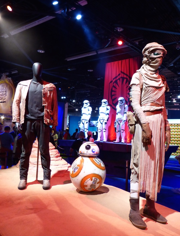 Star Wars Force Awakens film costumes BB8 droid