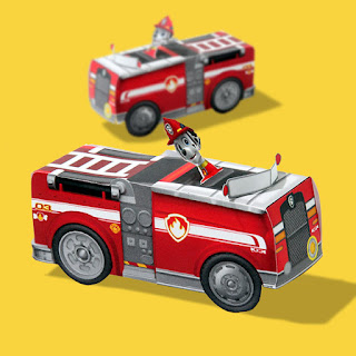 Free Printable 3D Paper: Paw Patrol Marshall's fire truck.