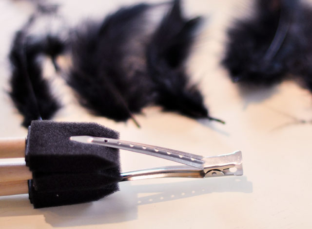 DIY Feather Faux Hawk, Black Feather Headdress