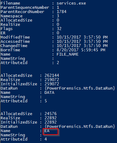Extracting ZeroAccess from NTFS Extended Attributes using