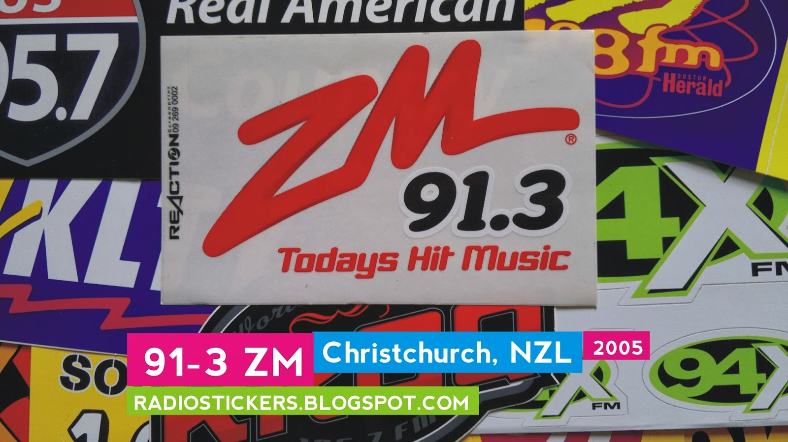 RADIO station stickers    and more!: ZM Network, New Zealand