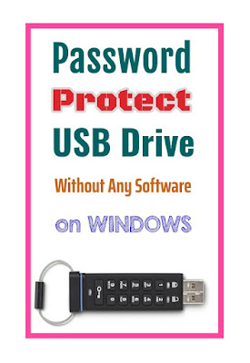 Password Protect USB Drive On Windows